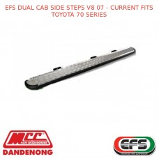 EFS DUAL CAB SIDE STEPS V8 07 - CURRENT FITS TOYOTA 70 SERIES