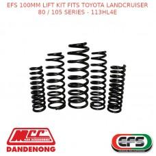 EFS 100MM LIFT KIT FITS TOYOTA LANDCRUISER 80 / 105 SERIES - 113HL4E