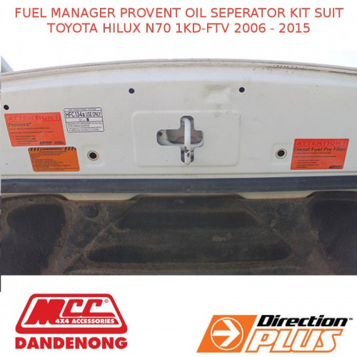 FUEL MANAGER PROVENT OIL SEPERATOR KIT SUIT TOYOTA HILUX N70