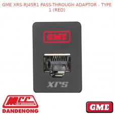 GME XRS-RJ45R1PASS-THROUGH ADAPTOR - TYPE 1 (RED)