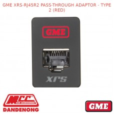 GME XRS-RJ45R2 PASS-THROUGH ADAPTOR - TYPE 2 (RED)