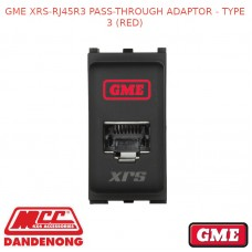 GME XRS-RJ45R3 PASS-THROUGH ADAPTOR - TYPE 3 (RED)