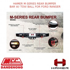 HAMER M-SERIES REAR BUMPER BAR W/ TOW BALL FOR FORD RANGER