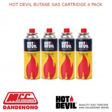 HOT DEVIL BUTANE GAS CARTRIDGE 4 PACK