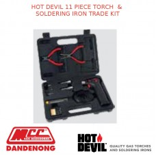 HOT DEVIL 11 PIECE TORCH & SOLDERING IRON TRADE KIT
