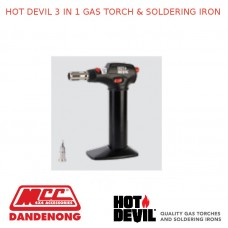 HOT DEVIL 3 IN 1 GAS TORCH & SOLDERING IRON