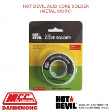 HOT DEVIL ACID CORE SOLDER (METAL WORK)