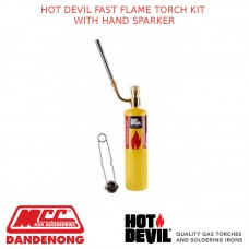 HOT DEVIL FAST FLAME TORCH KIT WITH HAND SPARKER