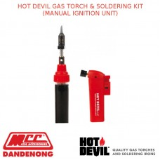 HOT DEVIL GAS TORCH & SOLDERING KIT (MANUAL IGNITION UNIT)