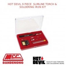 HOT DEVIL 9 PIECE  SLIMLINE TORCH & SOLDERING IRON KIT
