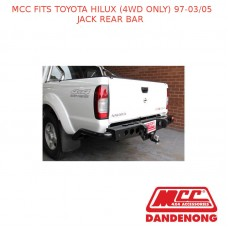 MCC JACK REAR BAR FITS TOYOTA HILUX (4WD ONLY) (1997-03/2005)