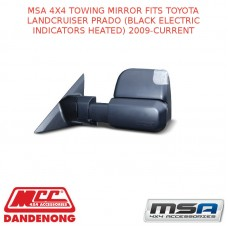 MSA 4X4 TOWING MIRROR FIT TOYOTA LC PRADO (BLACK ELECTRIC INDICATORS HEATED)09-C