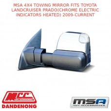 MSA 4X4 TOWING MIRROR FIT TOYOTA LC PRADO(CHROME ELECTRIC INDICATORS HEATED)09-C