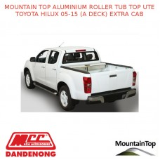 TOYOTA HILUX 05-15 (A DECK) EXTRA CAB MOUNTAIN TOP ALUMINIUM ROLLER TUB TOP UTE