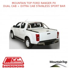 FORD RANGER PX DC + EC STAINLESS SPORT BAR - ACCESSORY FOR MOUNTAIN TOP ROLL