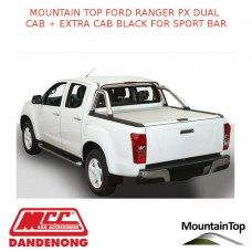 FORD RANGER PX DUAL CAB + EXTRA CAB BLACK SPORT BAR - ACCESSORY FOR MOUNTAIN TOP ROLL