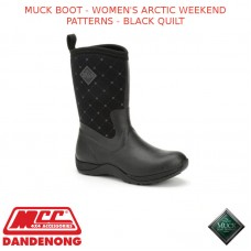 MUCK BOOT - WOMEN'S ARCTIC WEEKEND PATTERNS - BLACK QUILT