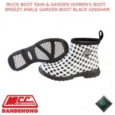MUCK BOOT RAIN & GARDEN WOMEN'S BOOT - BREEZY ANKLE GARDEN BOOT BLACK GINGHAM