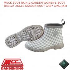MUCK BOOT RAIN & GARDEN WOMEN'S BOOT - BREEZY ANKLE GARDEN BOOT GREY GINGHAM