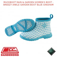 MUCKBOOT RAIN & GARDEN WOMEN'S BOOT - BREEZY ANKLE GARDEN BOOT BLUE GINGHAM