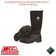 MUCKBOOT RAIN & GARDEN MEN'S BOOT - CHORE HI BLACK