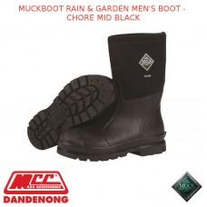 MUCKBOOT RAIN & GARDEN MEN'S BOOT - CHORE MID BLACK