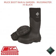 MUCKBOOT RAIN & GARDEN - MUCKMASTER HI BLACK