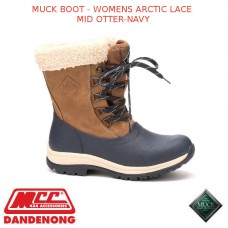 MUCK BOOT - WOMENS ARCTIC LACE MID OTTER-NAVY