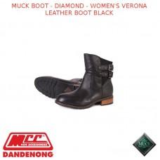 MUCK BOOT - DIAMOND - WOMEN'S VERONA LEATHER BOOT BLACK