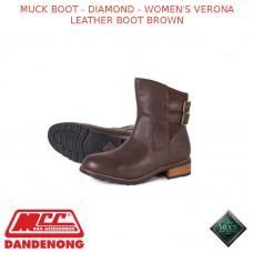 MUCK BOOT - DIAMOND - WOMEN'S VERONA LEATHER BOOT BROWN