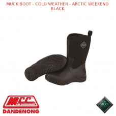 MUCK BOOT - COLD WEATHER -  WOMEN'S ARCTIC WEEKEND BOOT BLACK