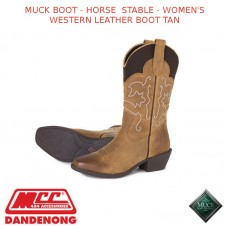 MUCK BOOT - HORSE & STABLE - WOMEN'S WESTERN LEATHER BOOT TAN
