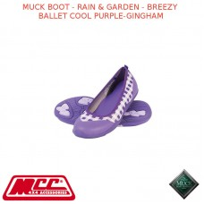 MUCK BOOT - RAIN & GARDEN WOMEN'S BOOT - BREEZY BALLET COOL PURPLE-GINGHAM