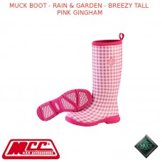 MUCK BOOT - RAIN & GARDEN WOMEN'S BOOT - BREEZY TALL PINK GINGHAM