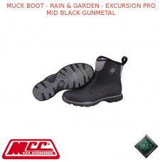 MUCK BOOT - RAIN & GARDEN MEN'S BOOT - EXCURSION PRO MID BLACK-GUNMETAL