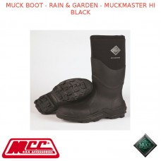 MUCK BOOT - RAIN & GARDEN - MUCKMASTER HI BLACK