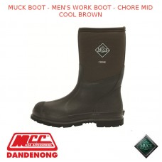 MUCKBOOT MEN'S WORK BOOT - CHORE MID COOL BROWN