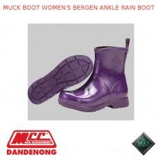 MUCK BOOT WOMEN'S BERGEN ANKLE RAIN BOOT - PURPLE