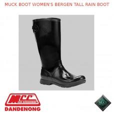 MUCK BOOT WOMEN'S BERGEN TALL RAIN BOOT - BLACK