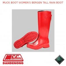 MUCK BOOT WOMEN'S BERGEN TALL RAIN BOOT - RED