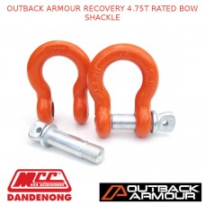 OUTBACK ARMOUR RECOVERY 4.75T RATED BOW SHACKLE