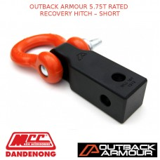OUTBACK ARMOUR 5.75T RATED RECOVERY HITCH - SHORT