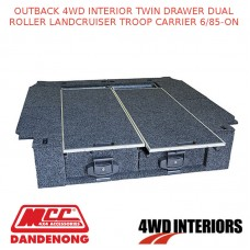 OUTBACK 4WD INTERIOR TWIN DRAWER DUAL ROLLER LANDCRUISER TROOP CARRIER 6/85-ON