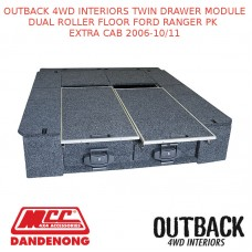OUTBACK 4WD INTERIOR TWIN DRAWER DUAL FLOOR FORD RANGER PK EXTRA CAB 2006-10/11