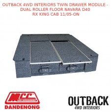 OUTBACK 4WD INTERIOR TWIN DRAWER DUAL ROLLER NAVARA D40 RX KING CAB 11/05-ON