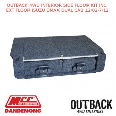 OUTBACK 4WD INTERIOR SIDE FLOOR KIT INC EXT FLOOR ISUZU DMAX DUAL CAB 12/02-7/12