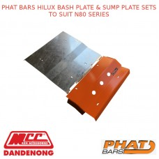 PHAT BARS HILUX BASH PLATE & SUMP PLATE SETS TO SUIT N80 SERIES