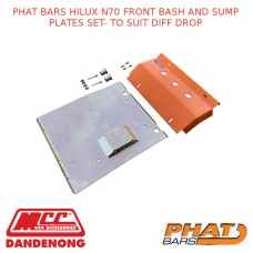 PHAT BARS HILUX N70 FRONT BASH AND SUMP PLATES SET- TO SUIT DIFF DROP