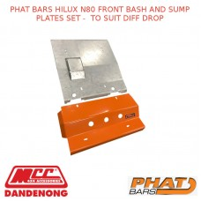 PHAT BARS HILUX N80 FRONT BASH AND SUMP PLATES SET -  TO SUIT DIFF DROP