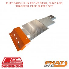 PHAT BARS HILUX FRONT BASH, SUMP AND TRANSFER CASE PLATES SET